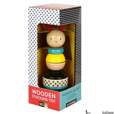 Modern Bunny Wooden Stacking Toy - PETITCOLLAGE