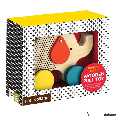 Elephant Wooden Pull Along Toy - PETITCOLLAGE