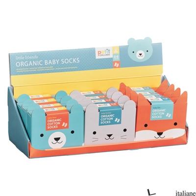 Little Friends Organic Baby Socks CDU of 12 - PETITCOLLAGE