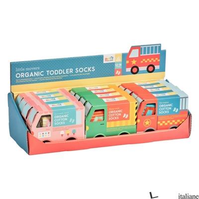 Little Movers Organic Cotton Toddler Socks CDU of 12 - PETITCOLLAGE