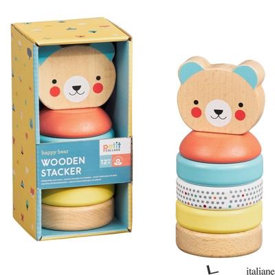 Happy Bear Wooden Stacker - PETITCOLLAGE