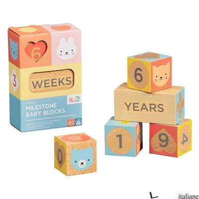 Wooden Milestone Baby Blocks - PETITCOLLAGE