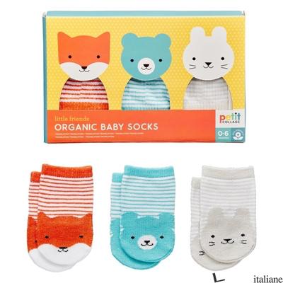 Little Friends Organic Baby Socks Set Of 3 - PETIT COLLAGE