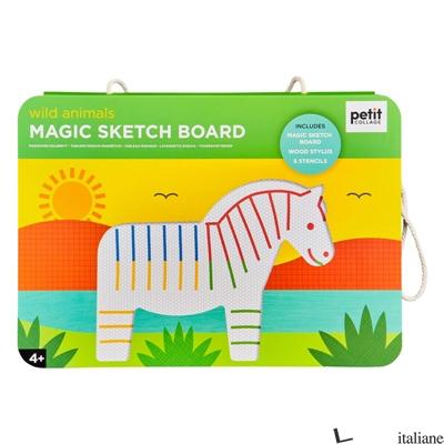 Wild Animals Magic Sketch Board and Stencil - PETITCOLLAGE