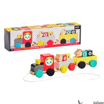 Animal Friends Wooden Pull Along Train - PETITCOLLAGE