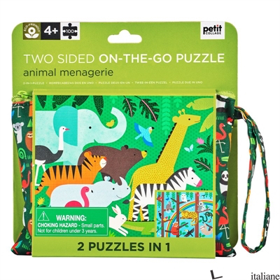 Two Sided On-the- Go Puzzle Animal Menagerie - PETITCOLLAGE