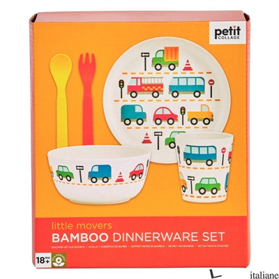Eco-Friendly Bamboo Baby Dinnerware Set: Little Movers - PETITCOLLAGE