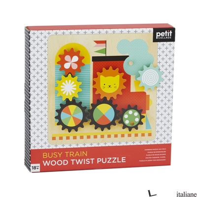 Wooden Twist Puzzle: Busy Train - PETITCOLLAGE