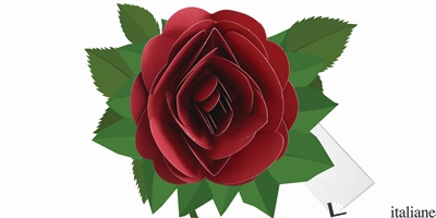 SIMPLY A ROSE DARK RED POP-UP CARD - SHERI SAFRAN
