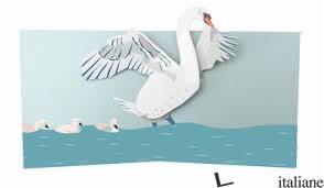 Birds swan pop up card - SHERI SAFRAN