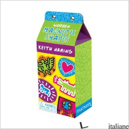 KEITH HARING WOODEN MAGNETIC SHAPES - BY (ARTIST) KEITH HARING