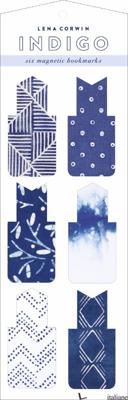 INDIGO MAGNETIC BOOKMARKS - ILLUSTRATED BY LENA CORWIN