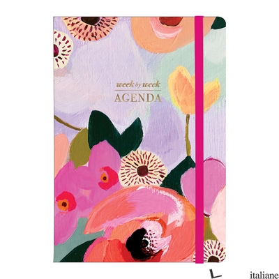 PAINTED PETALS GILDED PLANNER - GALISON, BY (ARTIST) KT SMAIL