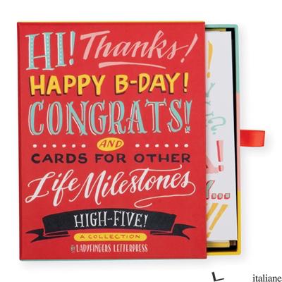 Ladyfingers Letterpress High Five Greeting Assortment - GALISON, ILLUSTRATED BY LADYFINGERS LETTERPRESS