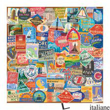 Vintage Travel Luggage Labels 500pc Puzzle - GALISON, BY (ARTIST) TROY LITTEN