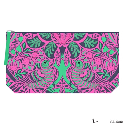 WILLIAM MORRIS DOVE AND ROSE EMBROIDERED POUCH - GALISON, BY (ARTIST) WILLIAM MORRIS