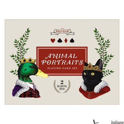 BERKLEY BESTIARY ANMIAL PORTRAITS PLAYING CARDS - GALISON, ILLUSTRATED BY BERKLEY ILLUSTRATION