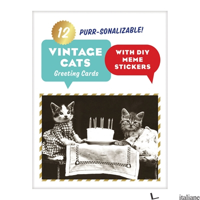 Vintage Cat Memes Diy Greeting Card Folio - Galison, photographs by Harry Whittier Frees