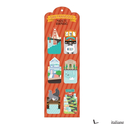 San Francisco Magnetic Bookmarks - Galison, by (artist) Alyssa Nassner