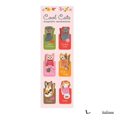 Cool Cats Magnetic Bookmarks - Galison, illustrated by Carolyn Gavin