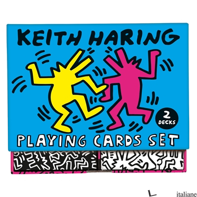TEMP. NON DIPONIBILE --- Keith Haring Playing Card Set - Mudpuppy, by (artist) Keith Haring