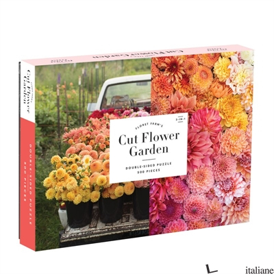 Floret Farm's Cut Flower Garden 2-sided 500pc Puzzle - Galison, by (artist) Erin Benzakein, photographs by Chris Benzakein