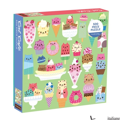 Cat Cafe 500 Piece Puzzle - Mudpuppy, illustrated by Kat Uno
