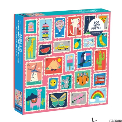 Hello From Around the World 500 Piece Puzzle - Mudpuppy, illustrated by  Lemon Ribbon Studio