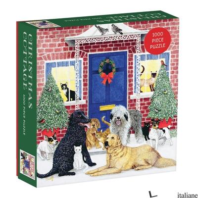 Christmas Cottage Square Boxed 1000 Piece Puzzle - Galison