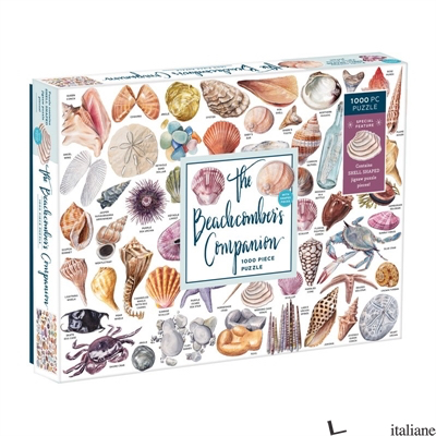 The Beachcomber's Companion 1000 Piece Puzzle With Shaped Pieces - Galison, illustrated by Anna Marlis Burgard, photographs by Jillian Ditner