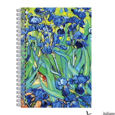 "Van Gogh Irises Wire-O Journal 6 X 8.5"" - Galison, by (artist) Van Gogh / Getty Images"