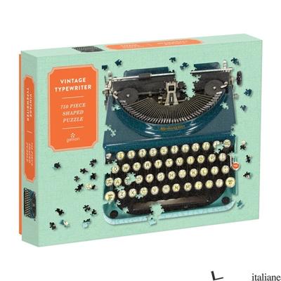 Vintage Typewriter 750 Piece Shaped Puzzle - Galison, photographs by Phat Dog Vintage