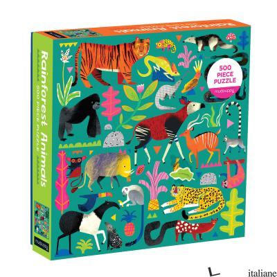 Rainforest Animals 500 Piece Family Puzzle - Mudpuppy, illustrated by Natasha Durley