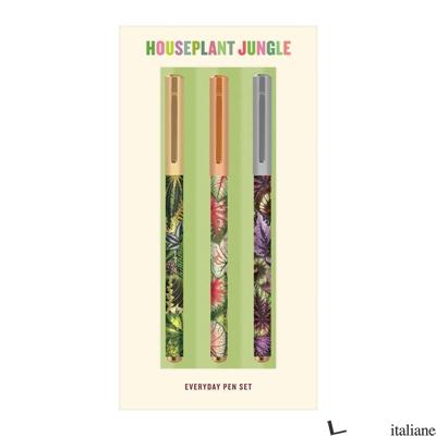 Houseplant Jungle Everyday Pen Set - Galison, by (artist) Troy Litten