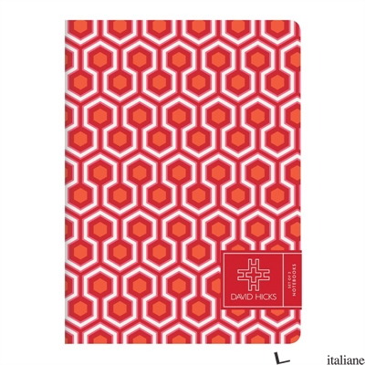 David Hicks-Reds Writer's Notebook Set - Galison, by (artist) The Estate of David Hicks