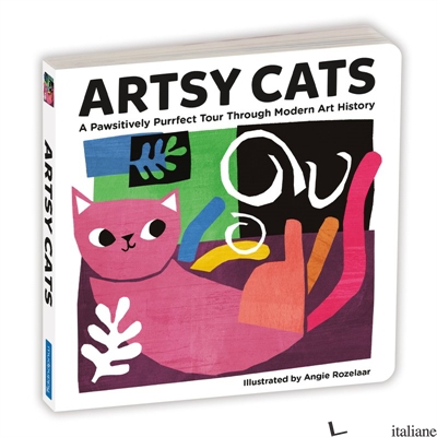 Artsy Cats Board Book - Mudpuppy, illustrated by Angie Rozelaar