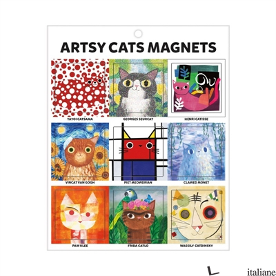 Artsy Cats Magnets - Angie Rozelaar
