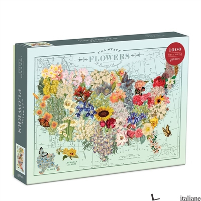 Wendy Gold USA State Flowers 1000 Piece Puzzle - Galison, by (artist) Wendy Gold