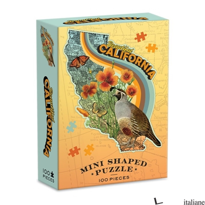 Wendy Gold California Mini Shaped Puzzle - Galison, by (artist) Wendy Gold