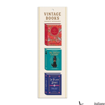 Vintage Books Shaped Magnetic Bookmarks - Galison