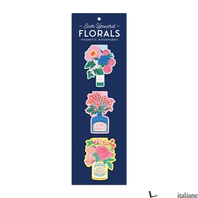Ever Upward Florals Shaped Magnetic Bookmarks - Galison, by (artist) Emily Taylor