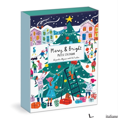 Louise Cunningham Merry and Bright 12 Days of Christmas Advent Puzzle Calendar - Galison, by (artist) Louise Cunningham