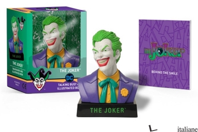 The Joker Talking Bust and Illustrated Book - Manning, Matthew K.