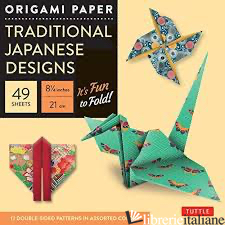 ORIGAMI PAPER TRADITIONAL JAPANESE DESIGNS LARGE - PERIPLUS EDITIONS