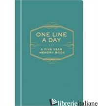 One Line a Day - CHRONICLE BOOKS STAFF