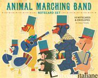ANIMAL MARCHING BAND NOTECARD SET - TERADA JUNZO