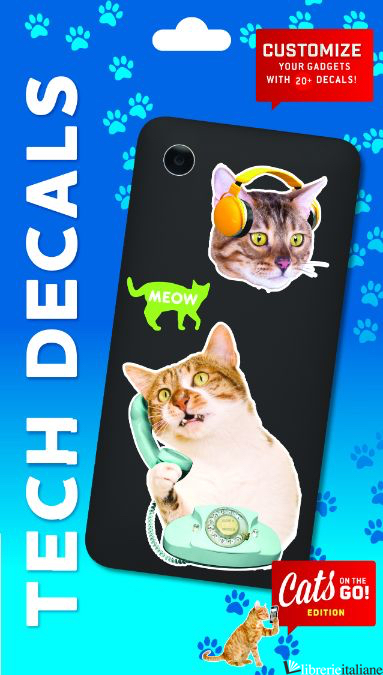 CATS ON THE GO TECH DECALS - CHRONICLE BOOKS