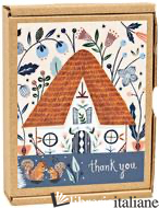 Cozy Cabin Thank You Greenthanks Notec -
