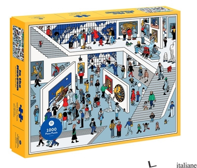 In The Museum 1000 Piece Puzzle - illustrated by Tomi Um