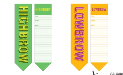 High Brow/Low Brow Bookmark Pad -